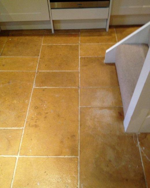 Limestone Floor Chipping Norton Before