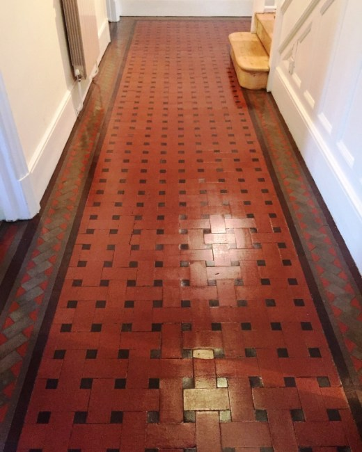 Victorian Tiled Hallway Oxford After Cleaning