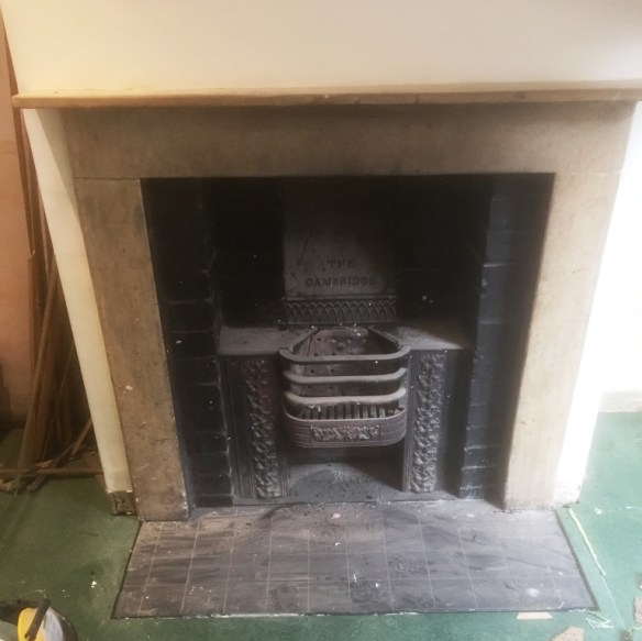 Limestone Fireplace Before Cleaning Oxford