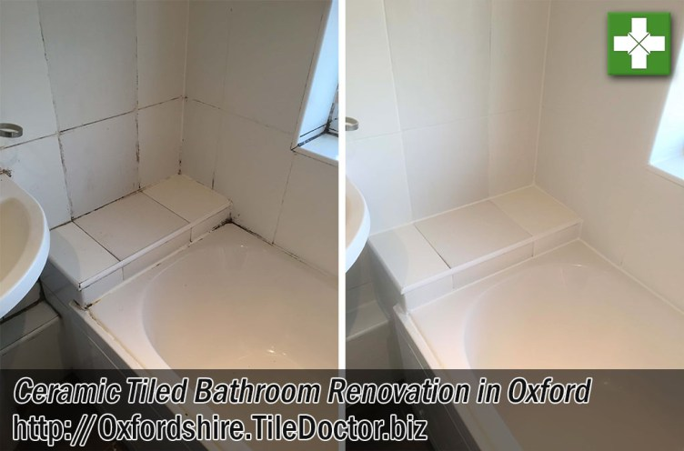 Ceramic Tiled Bathroom Before and After Renovation Oxford
