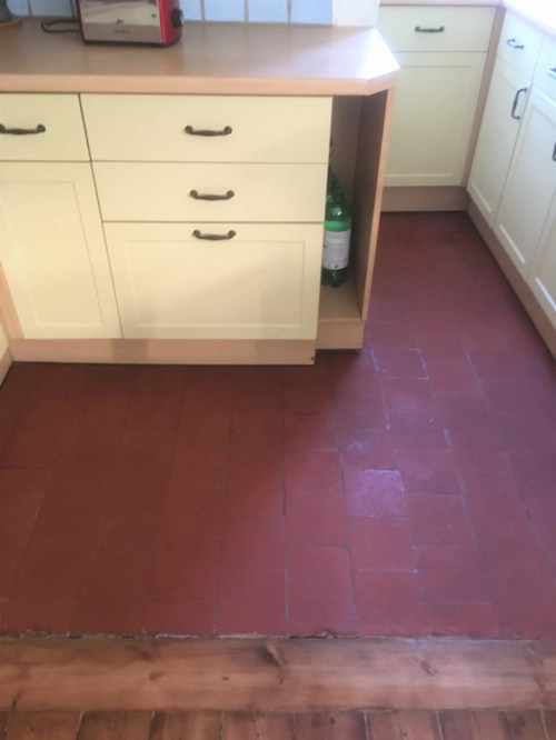 Quarry Tiled Kitchen Floor After Restoration Matt Sealer Old Marston