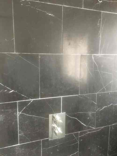 Black Negro Marquina Marble Shower Tiles Before Polishing Thame