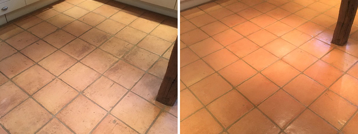 Terracotta Kitchen Floor Deep Cleaned and Sealed in Abingdon