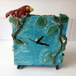 Ceramic clock, kids pottery class