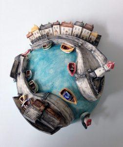 Harbour sculpture by Alison Jones