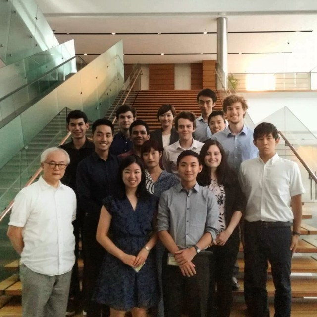 HLAB Media Team with Tomohiko Taniguchi, Special Advisor to the Cabinet of Shinzo Abe, at the Prime Minister's Office in Tokyo