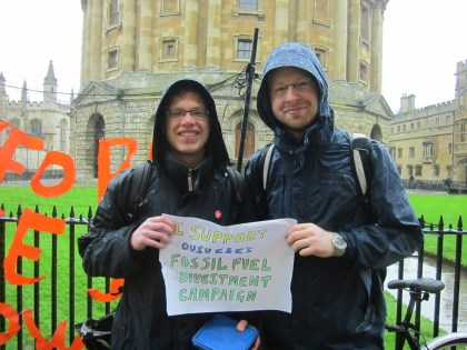 """""""Universities and public institutions should divest from fossil fuels to stand up for their younger members' right to a safe future. Progress on climate change has been far too slow, so divestment is an easy way to send a very powerful message to the public, to politicians, to investors and to companies."""" - Antoine Thalmann, MPhil Economics, Lincoln College"""