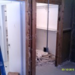 Demolition in the interior of the home on the bedroom and walk in closet