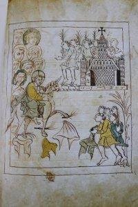 Ilustração no manuscrito dos Evangelhos de Otfried