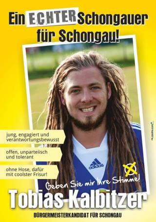 Wahlplakat von Tobias Kalbitzer