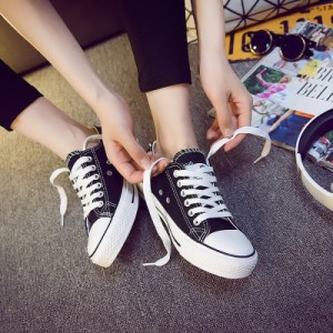 2020ulzzang autumn new lovers shoes casual shoes sneakers shoes Korean low canvas shoes to help female students