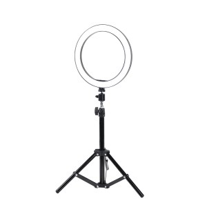 10 Inches Selfie Ring Light with Tripod Stand and Cell Phone Holder for Live Stream/Makeup