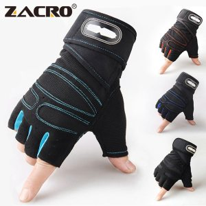 Zacro Gym Gloves Fitness Weight Lifting Gloves Body Building Training Sports Exercise Sport Workout Glove for Men Women M/L/XL