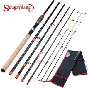Sougayilang High Quality Cork Handle Feeder Spinning Fishing Rod 3.0M L M H Power Travel Rod De Pesca Carp Feeder Pole