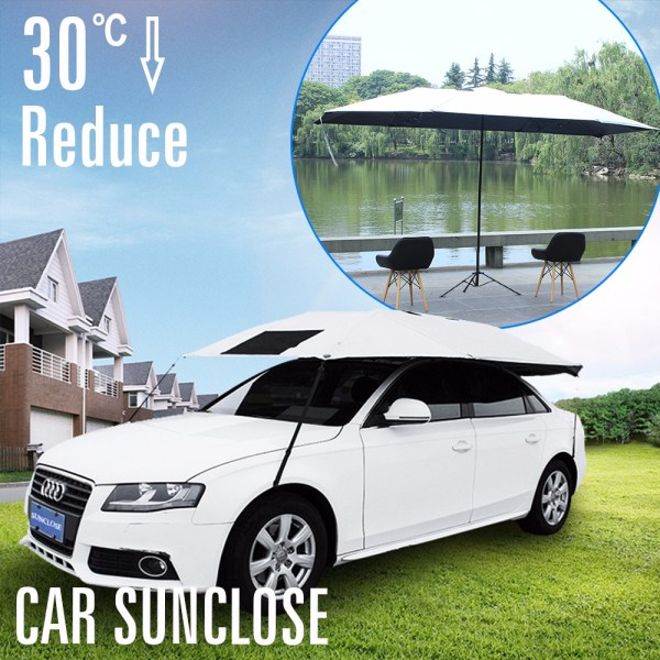 SUNCLOSE sunshade foldable car parking cover waterproof car umbrella cover