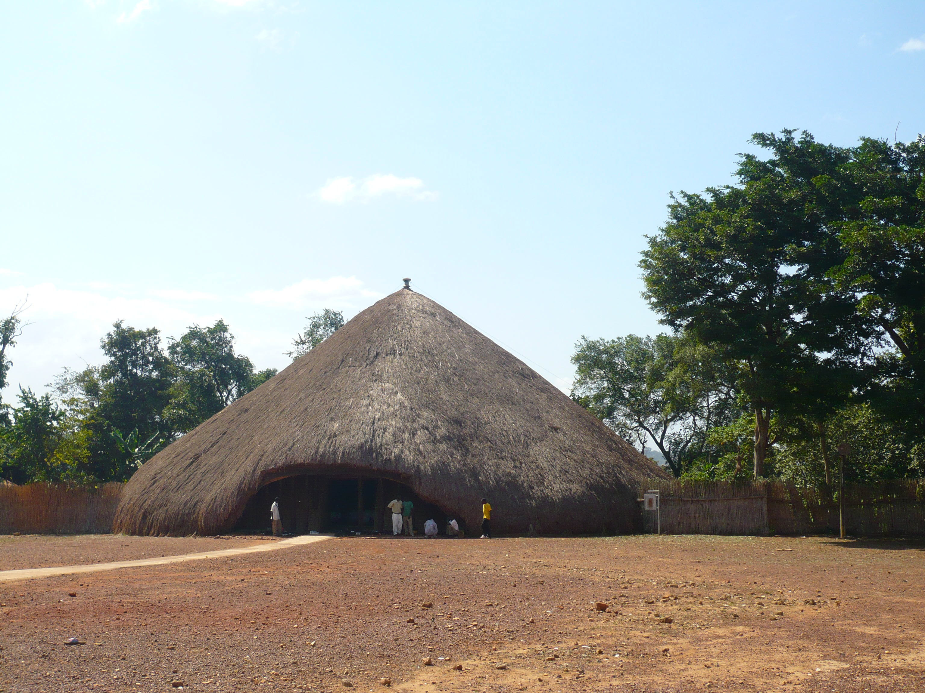 This large hut is somehow involved in the violence - don't ask me!