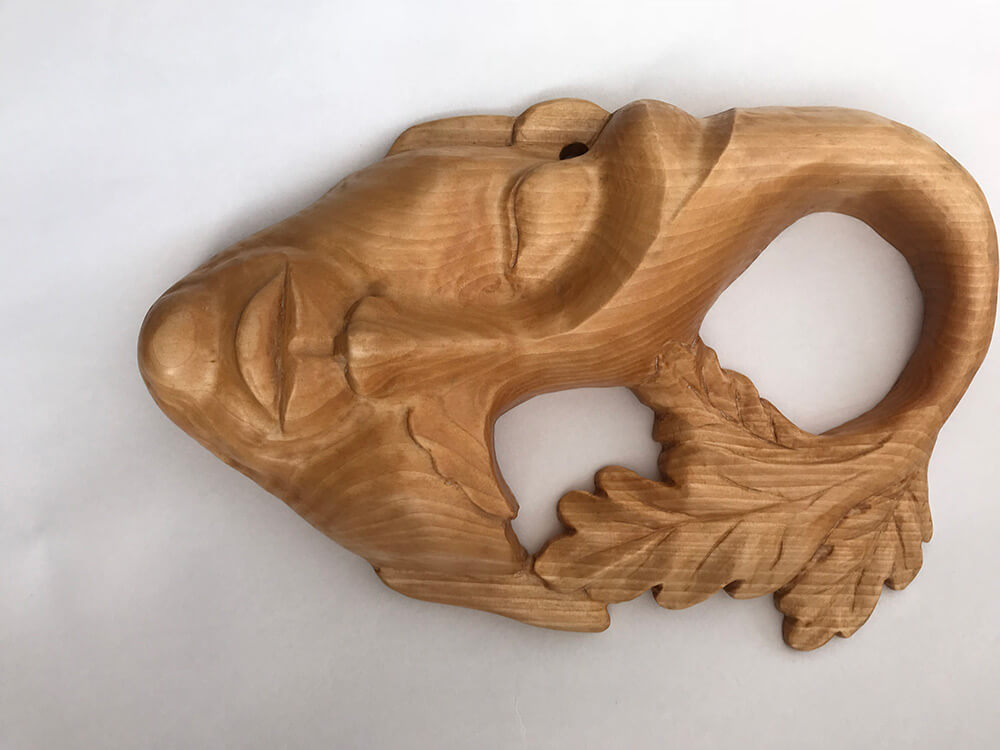 Wood Nymph Mask in Lime