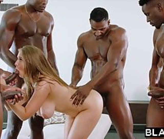 Lena Paul Is About To Have An Interracial Gangbang With A Gr