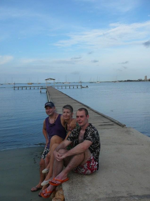 Syl Isa Fabien sur le ponton de Margarita