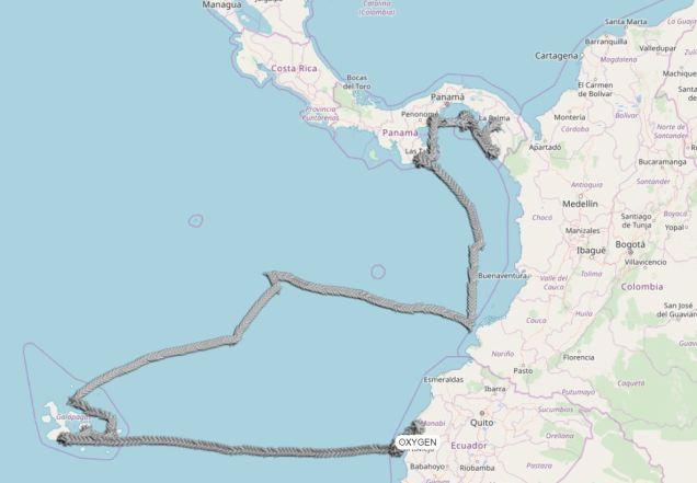 2 carte navigation Panama Galapagos