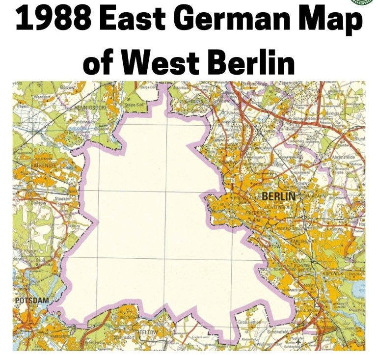 1988 East German Map Of West Berlin : Mapporn throughout Map Of East Germany And Berlin