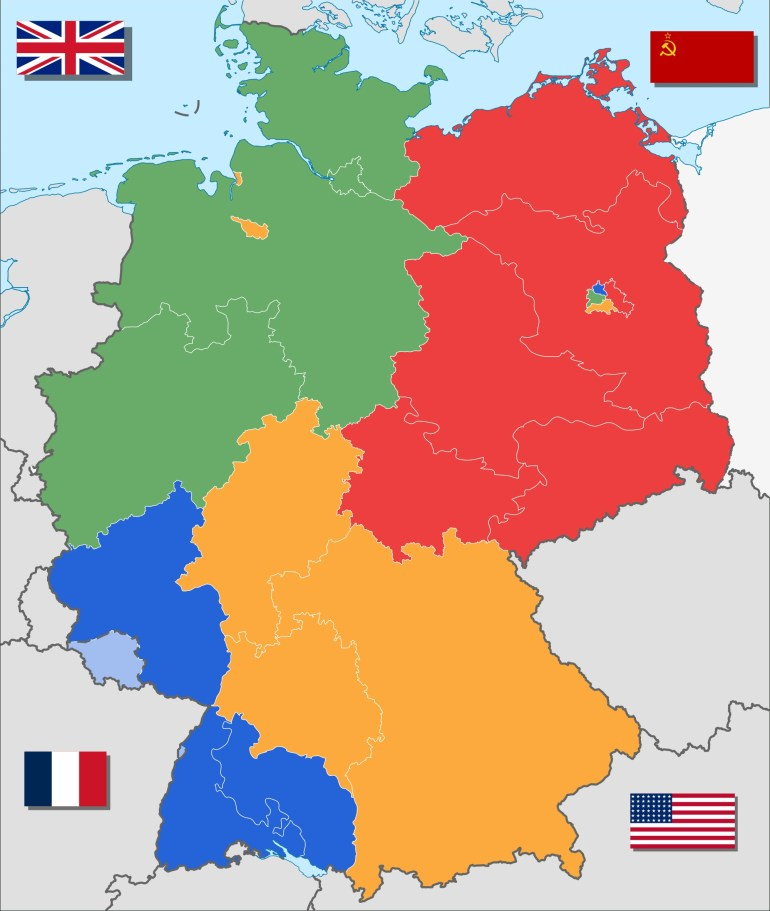 4 Ways To Divide Germany   Maps   Divided Germany, Germany, Berlin Wall with Map Of Germany During Cold War
