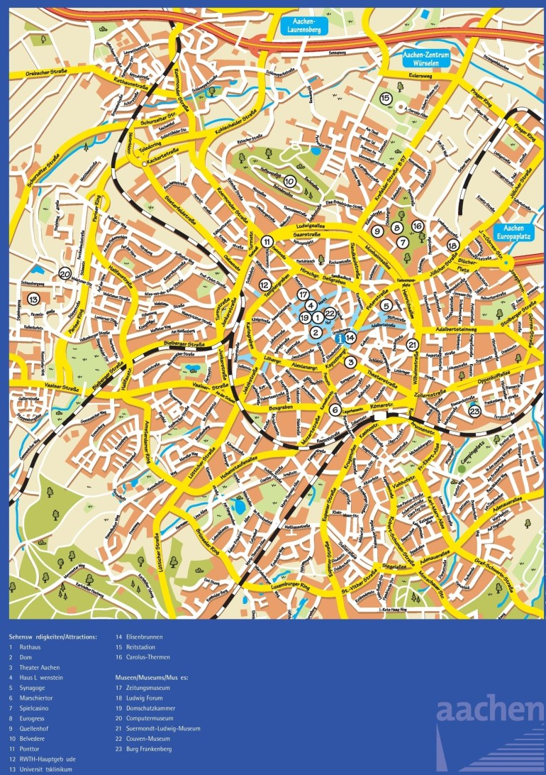 Aachen Maps | Germany | Maps Of Aachen within Aachen Germany Map