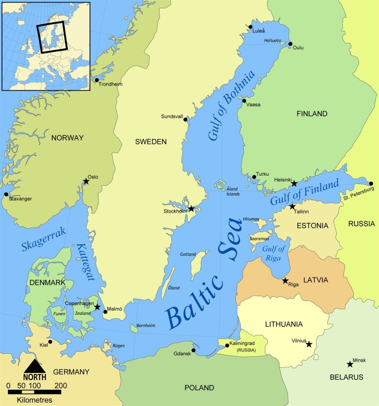 Baltic Sea - Wikipedia throughout East Sea Germany Map