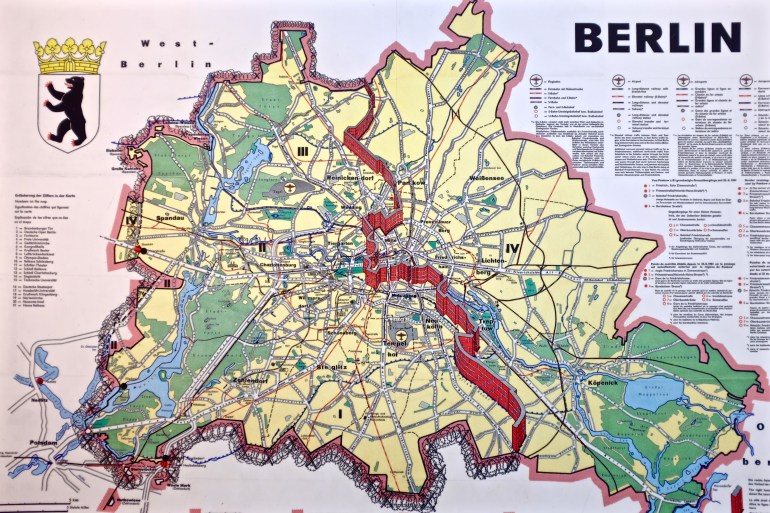 Berlin Germany At Wall Map | Illustrations In 2019 | Berlin Wall with Map Of Divided Berlin Germany