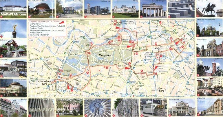 Berlin Maps - Top Tourist Attractions - Free, Printable City Street Map within Germany Tourist Attractions Map
