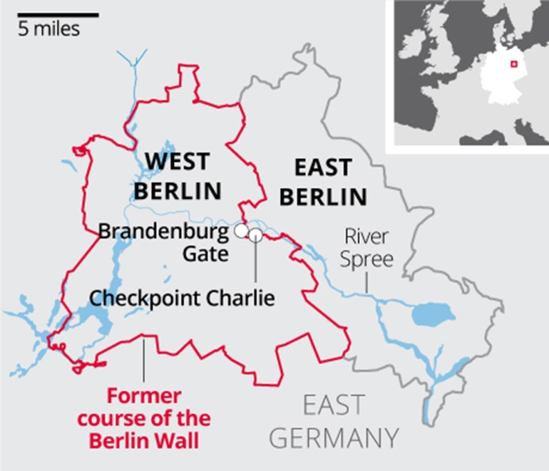 Berlin Wall: What You Need To Know About The Barrier That Divided pertaining to East West Germany Border Map