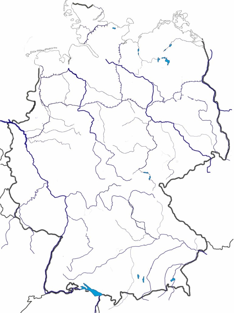 Blank Maps Of Germany for Blank Map Of Germany And Surrounding Countries
