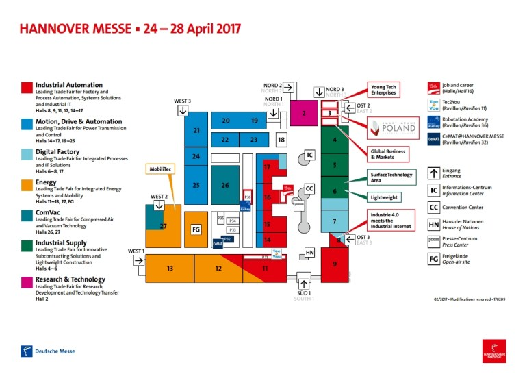 Clr Will Show Its Value Proposal At Hannover Messe 2017 – Blog Clr with regard to Hannover Messe Map Germany