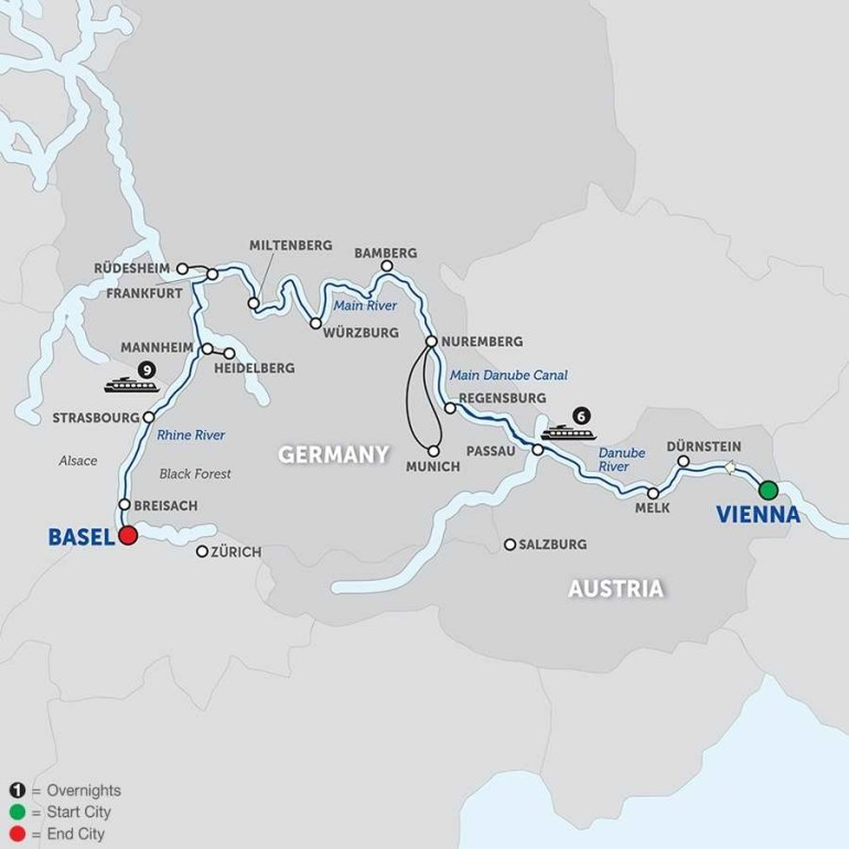 Danube River Cruise - Avalon Waterways® inside Map Of Danube River In Germany