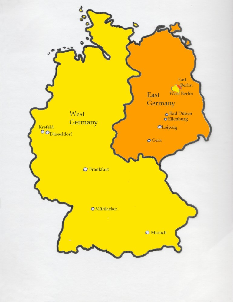 Dreaming In German: Map Of Divided Germany inside Map Of Germany Divided Into East And West