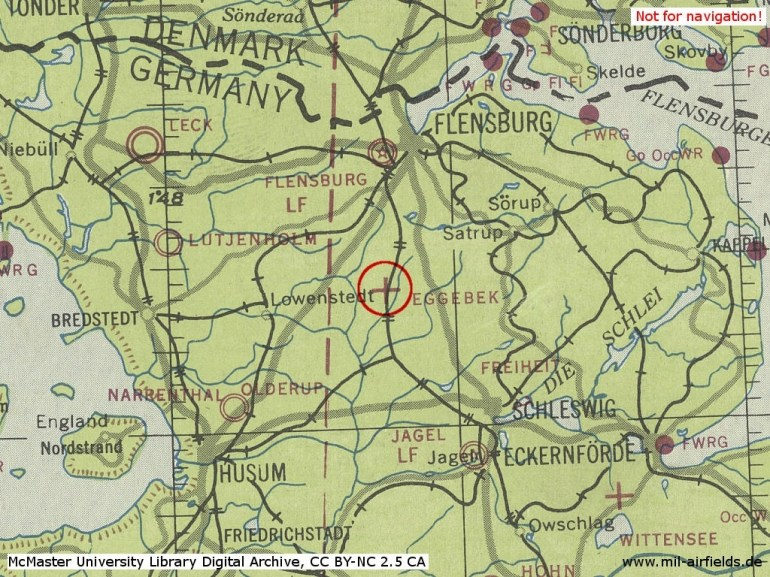 Eggebek Air Base, Germany - Military Airfield Directory with Map Of German Ww2 Airfields