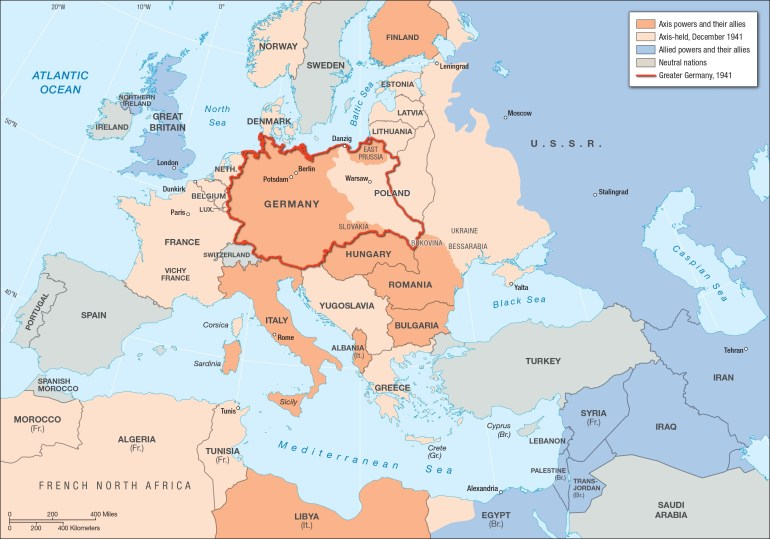 Europe In Germany's Grasp | Facing History And Ourselves pertaining to German Invasion Of Europe Map