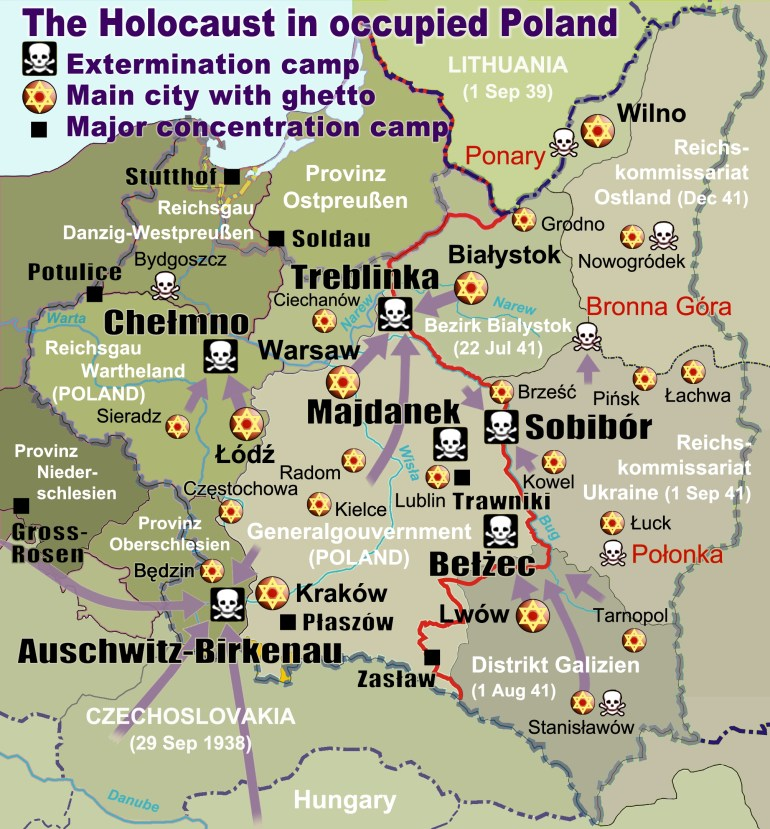 Extermination Camp - Wikipedia in Map Of Concentration Camps In Germany To Visit