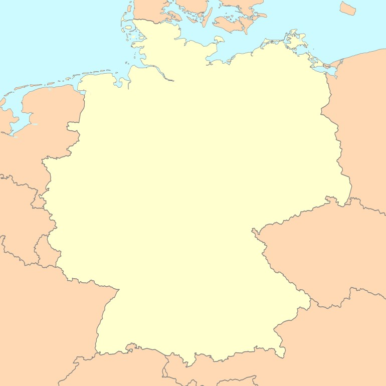 File:germany Map Blank - Wikimedia Commons inside Blank Map Of Germany And Surrounding Countries