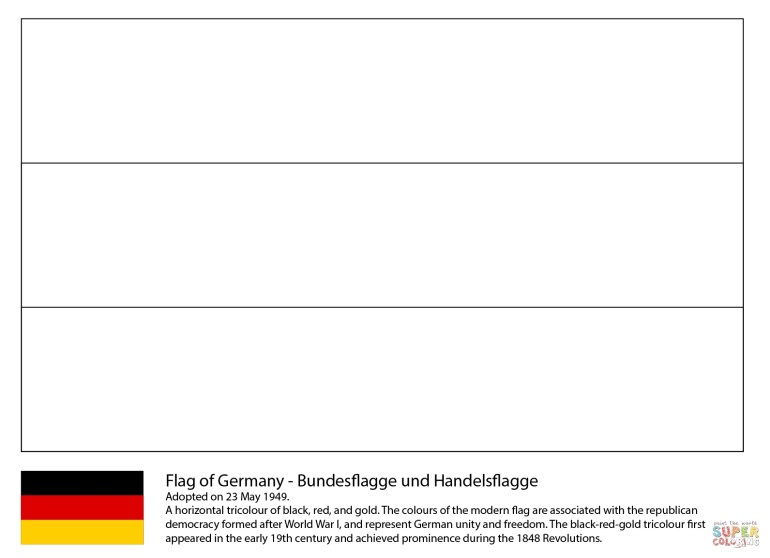 Flag Of Germany Coloring Page | Free Printable Coloring Pages with Germany Map Coloring Page