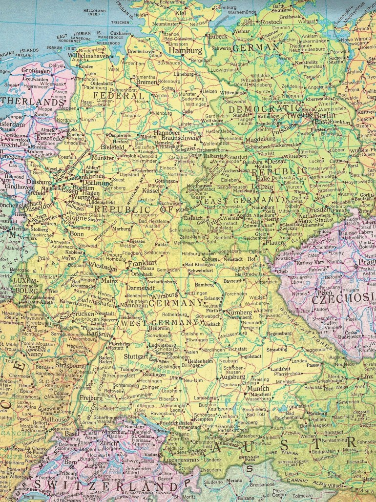 Former East Germany And West Germany | All Things German | East with Detailed Map Of East Germany