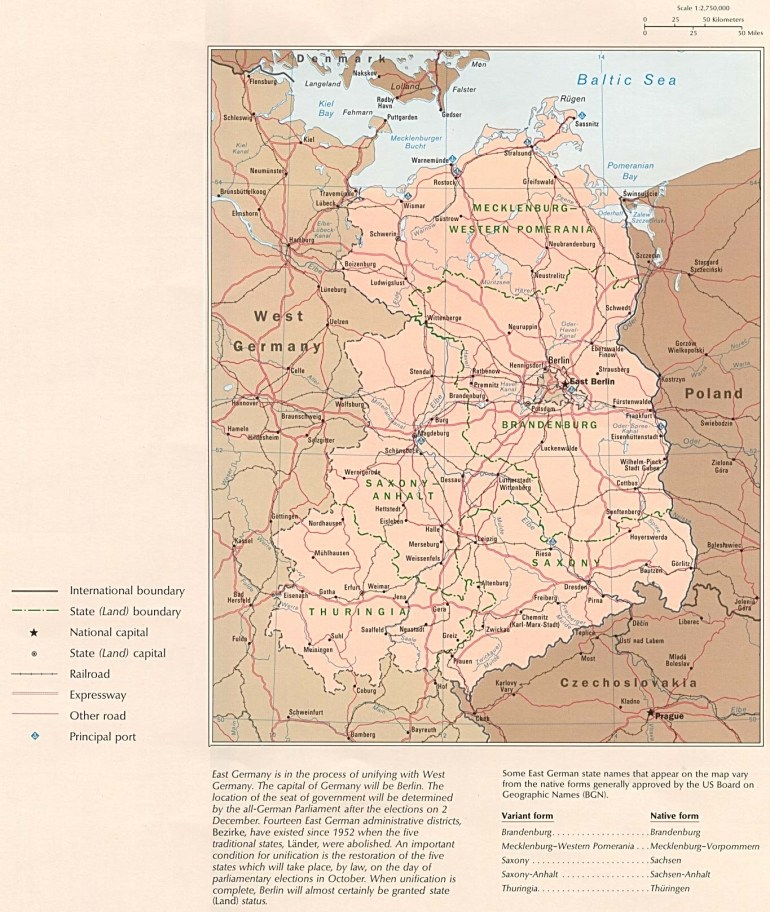 Former East Germany Political Map - Full Size | Gifex within Detailed Map Of East Germany