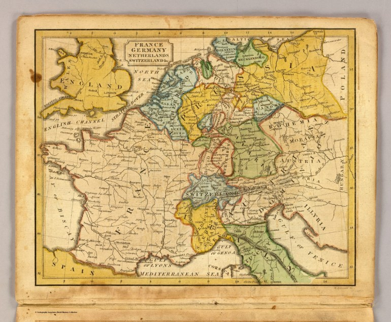 France, Germany, Netherlands, Switzerland &c. - David Rumsey intended for Map Of France Germany And Switzerland