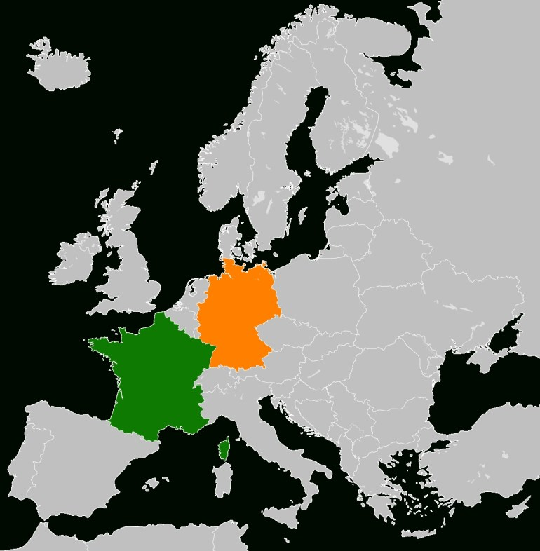 France–Germany Relations - Wikipedia for Map Of Germany And France Together