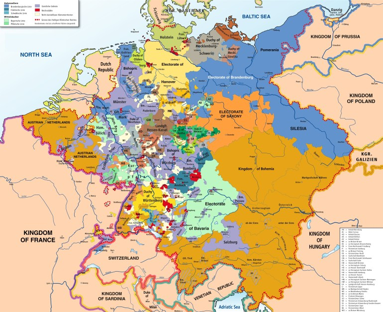 General Knowledge For Competitive Exams #2: All About Unification Of regarding Map Of German States Before Unification