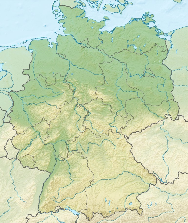 Geography Of Germany - Wikipedia regarding Physical Geography Map Of Germany