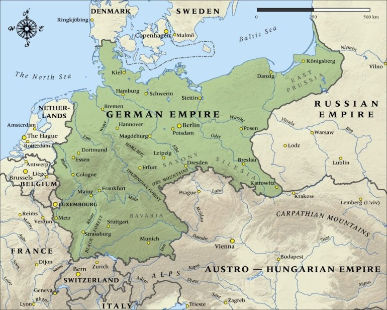 German Empire In 1914. | Historical Maps | Map, Historical Maps with Map Of Germany Before World War 1