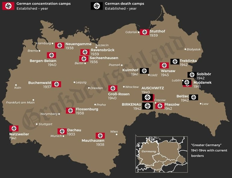 Germandeathcamps - All About The Bill within Map Of Concentration Camps In Germany And Poland