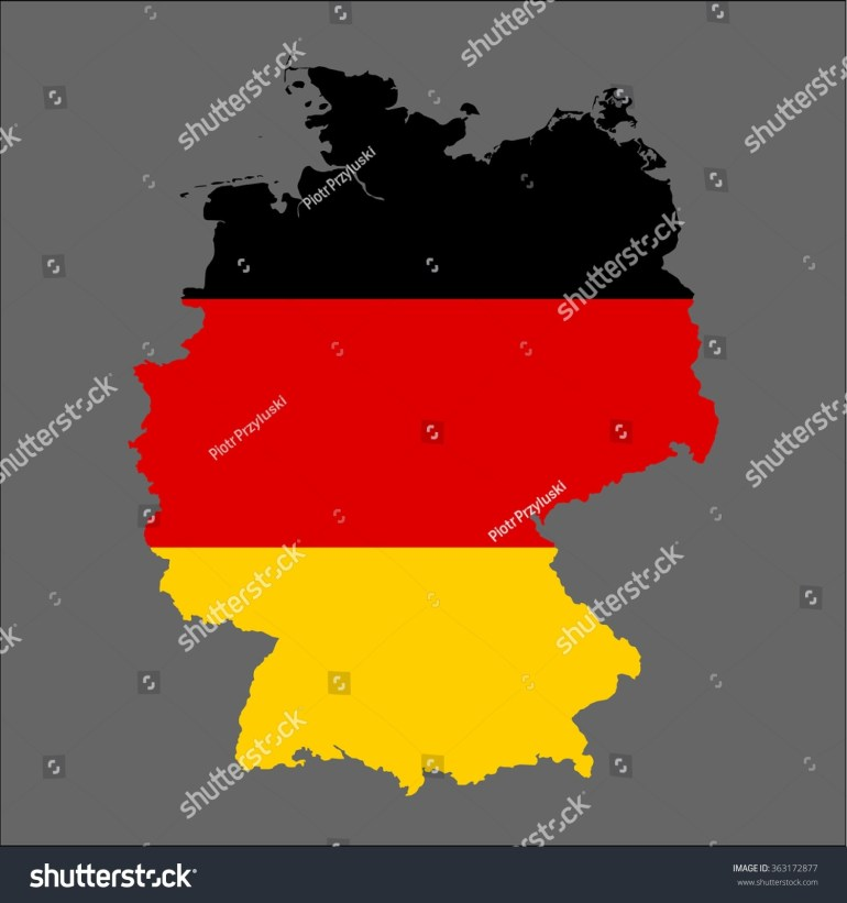 Germany 3D Map Flag Stock Vector (Royalty Free) 363172877 for Germany Map And Flag