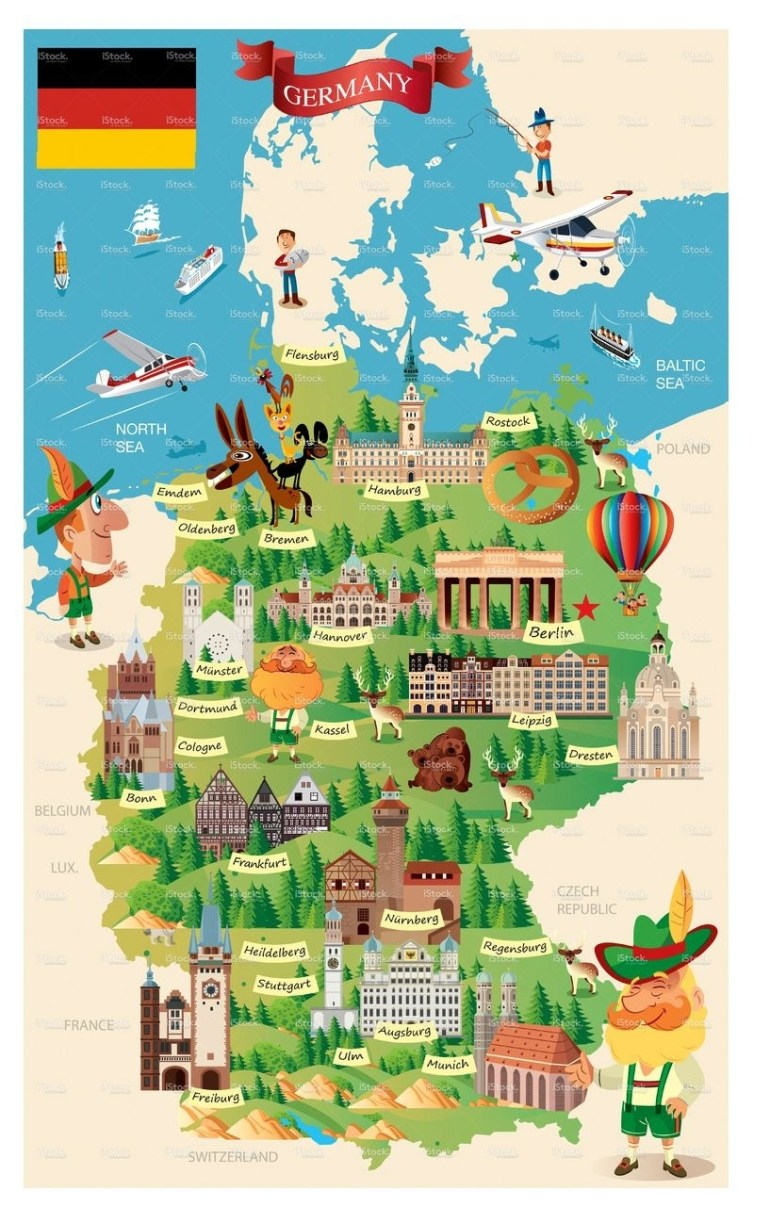 Germany Cartoon Map On Behance | Maps In 2019 | Germany Travel throughout Cartoon Map Of Germany